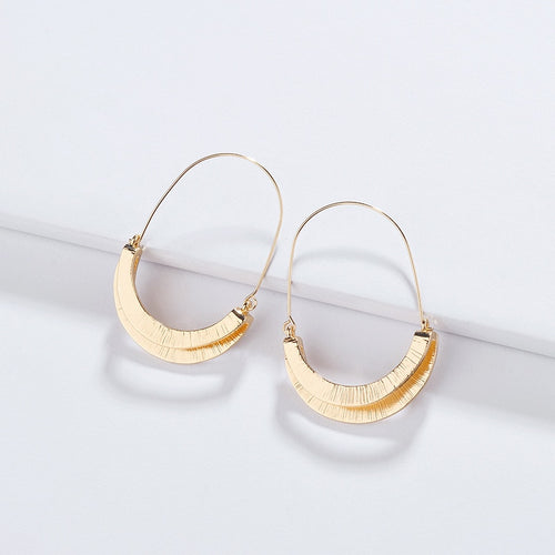 Simply the Best Semicircle Hoop Earring - Cup of Tea Boutique