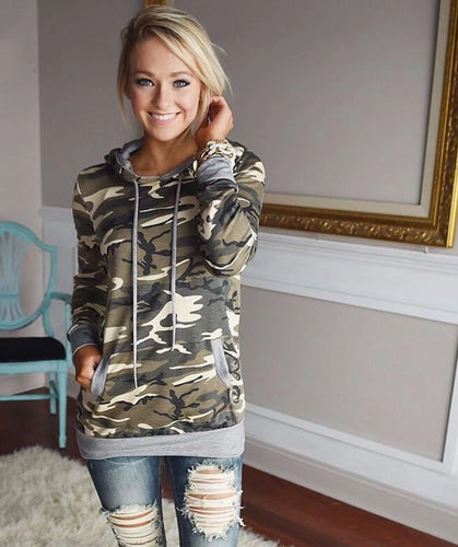 Ready for Fall Army Camo Top - Cup of Tea Boutique