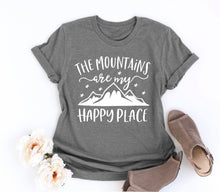Load image into Gallery viewer, The Mountains are my Happy Place Graphic Tee - Cup of Tea Boutique