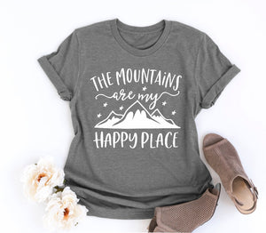 The Mountains are my Happy Place Graphic Tee - Cup of Tea Boutique