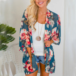 Floral Influence Kimono - Cup of Tea Boutique