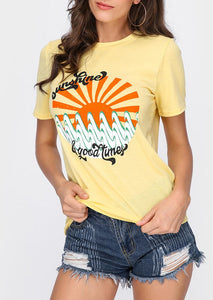 Sunshine & Good Times Tee - Cup of Tea Boutique