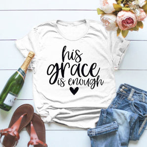 His Grace is Enough Tee - Cup of Tea Boutique