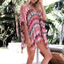 Load image into Gallery viewer, Patchwork and Stylish Beach Coverup - Cup of Tea Boutique