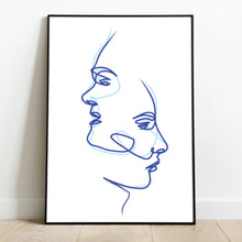 Load image into Gallery viewer, Custom Line Art Couples Portrait