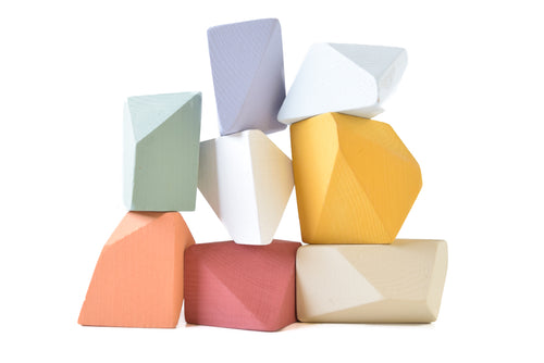 Matte Rainbow | 8 Set of Rock Blocks