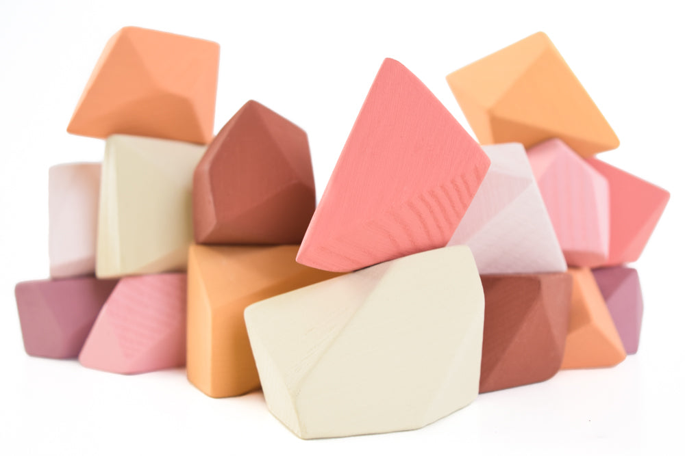 Peach | 16 Set of Rock Blocks