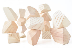 Natural | 16 Set of Rock Blocks