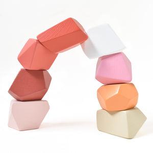 Peach | 8 Set of Rock Blocks