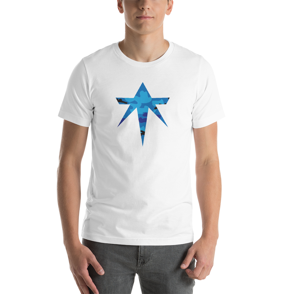 ta Star - Blue Camo Short Sleeve T-Shirt