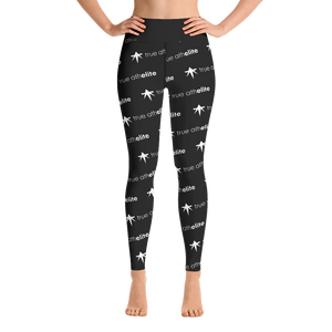 true athelite - Black Yoga Leggings