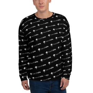 true athelite - Black and White Elite Pattern Sweatshirt