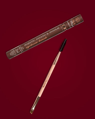 Majestic Angled and Spoolie Eyebrow Brush