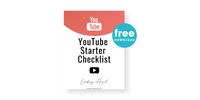 YouTube Starter Checklist