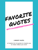 Favorite Quotes for Social Media Graphics (4 Pages)