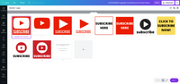 Customizable Watermark YouTube Subscribe Button Template Pack