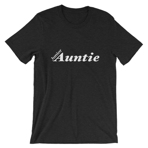 Jr Auntie Short-Sleeve Unisex T-Shirt - WHITE PRINT