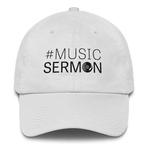#MusicSermon Cotton Cap White