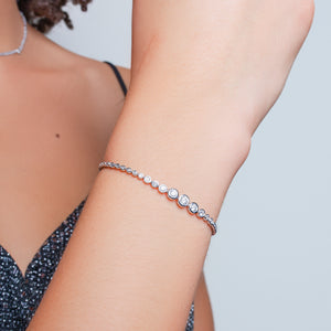 Adjustable Round Diamond Bracelet