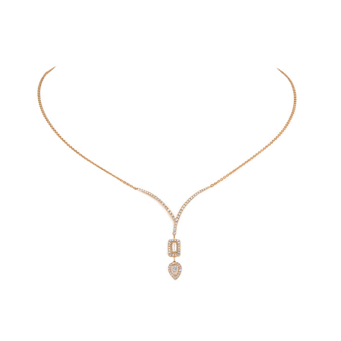 Two Shape Diamond Necklace