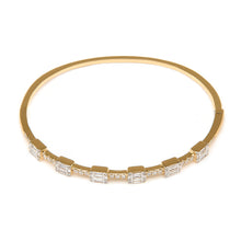 Load image into Gallery viewer, Baguette and Pavé Diamond Bracelet/Bangle