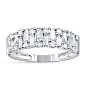 Cluster Baguette Diamond Ring