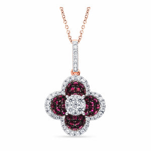 Pavé Ruby Diamond Pendant