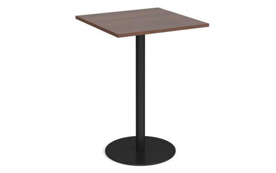 Monza Square Poseur Table with Flat Round Base