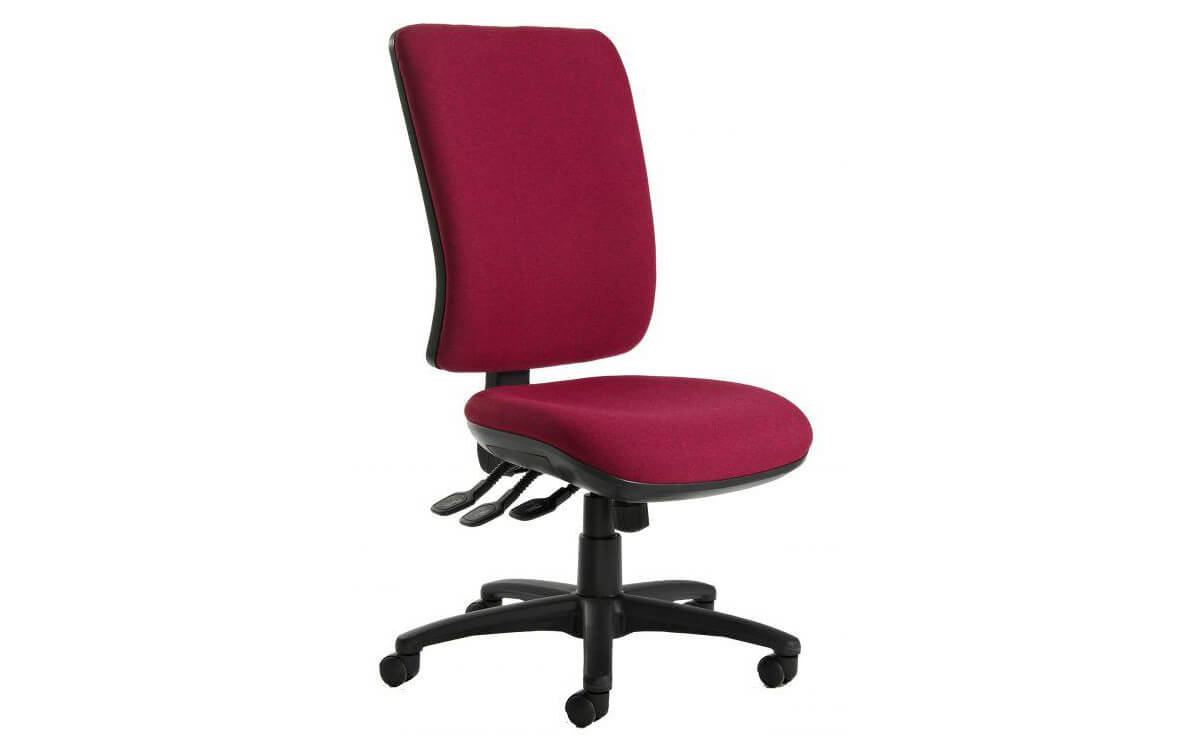 Senza Extra High Back Operators Chair with No Arms