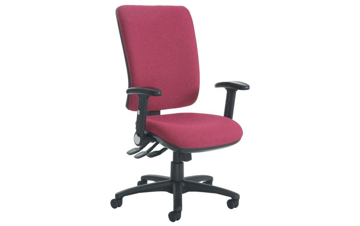 Senza Extra High Back Operators Chair with Folding Arms