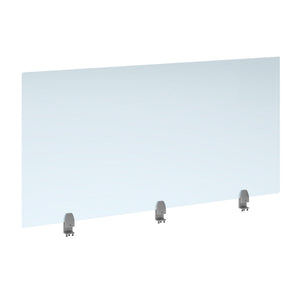 Straight high desktop acrylic screen with brackets