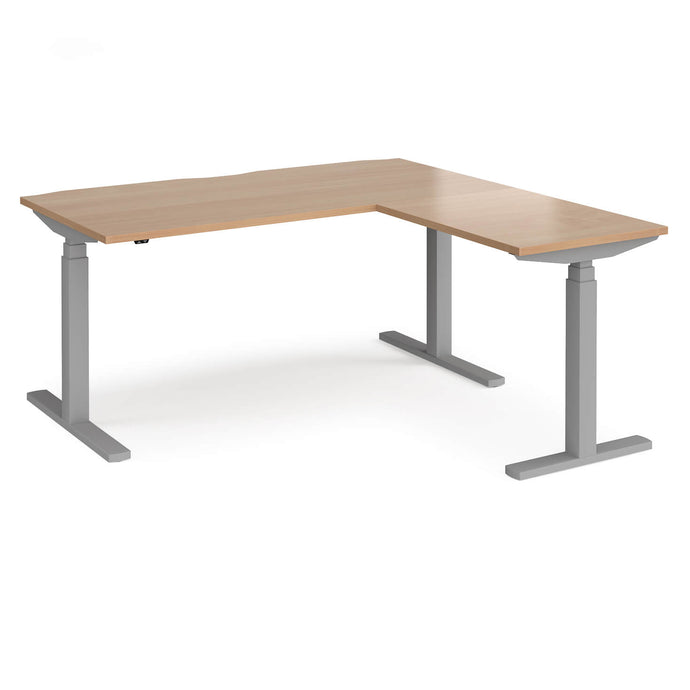 Elev8 Touch sit-stand desk with return