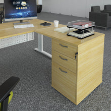 Load image into Gallery viewer, Universal desk high 3 drawer pedestal with flyover top