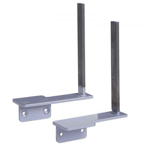 Aluminium framed screen brackets - return (pair) Screens
