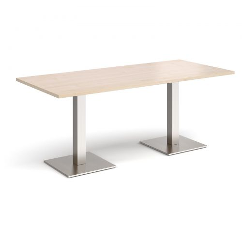 Brescia rectangular dining table with square bases Tables