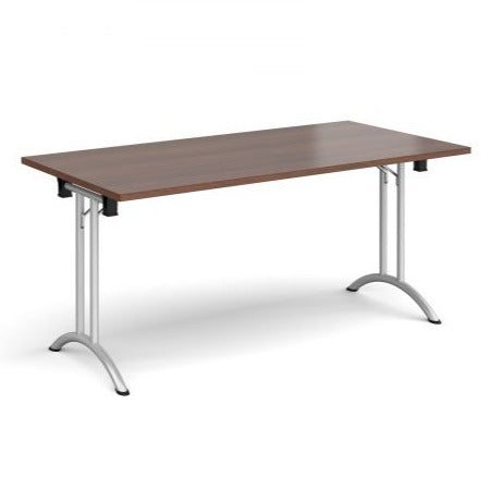Rectangular folding leg table with curved feet Tables