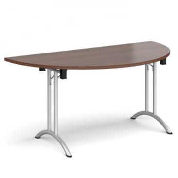 Semi circular folding leg table with curved feet Tables