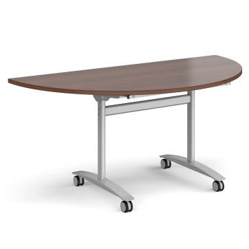 Semi circular deluxe fliptop meeting table Tables