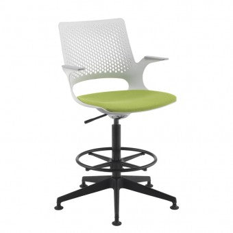 Solus designer draughtsmans chair with upholstered seat Seating