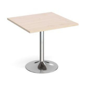 Genoa square dining table with trumpet base Tables
