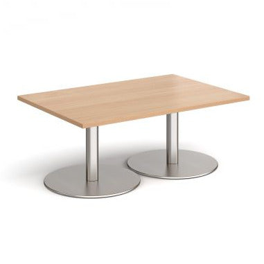 Monza rectangular coffee table with flat round bases Tables