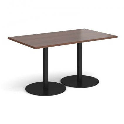 Monza rectangular dining table with flat round bases Tables