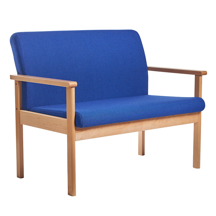 Meavy modular beech wooden frame double chair Reception & Soft Seating