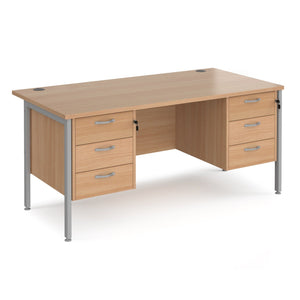 Maestro 25 desk with 3 and 3 drawer peds Desking
