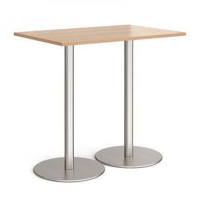 Monza rectangular poseur table with round bases Tables