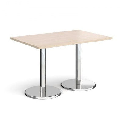 Pisa rectangular dining table with round bases Tables