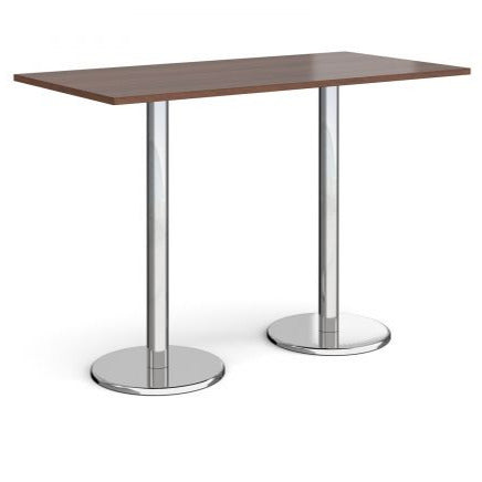 Pisa rectangular poseur table with round bases Tables