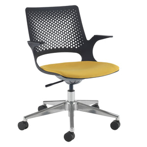 Solus designer operators chair with glides and upholstered seat Seating