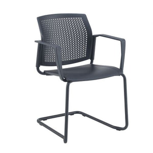 Santana cantilever chair with plastic seat and perforated back Seating