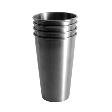 Load image into Gallery viewer, MedoCup The Gang's All Here four pack reusable steel pint cup